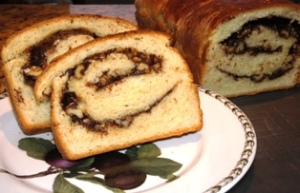 chocolate walnut cinnamon babka