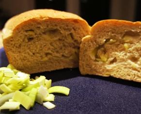 oatmeal and leek bread