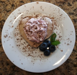 chocolate meringue heart