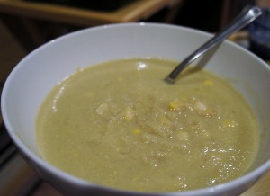 Corn Caramelized Onion Soup